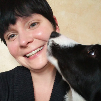 Marcie & a dog